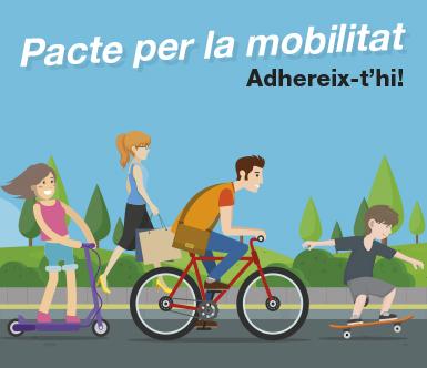 Baner del Pacte per la Mobilitat