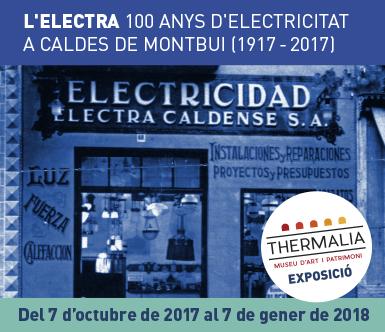 Baner exposició dels 100 anys de l'Electra