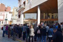 Concentració d'avui a les 12 h, davant l'Ajuntament