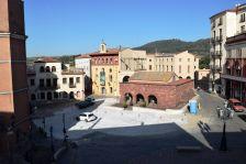 La plaça de la Font del Lleó, aquest matí
