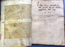 Libre de la administracio del Spital de my Francisco Pasqual del any 1550