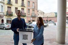Roda de premsa: Isidre Pineda i Núria Carné