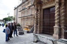 Roda de premsa portalera de l'Església de Santa Maria