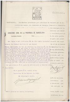 Expedient de 1927 per sol·licitar l'autorització per continuar celebrant el mercat els diumenges