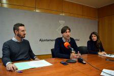 Roda de premsa sobre el Punt de Mediació, a càrrec de l'alcalde, Jordi Solé, el primer tinent d'alcalde, Isidre Pineda, i la tècnica de Mediació, Eva Sala