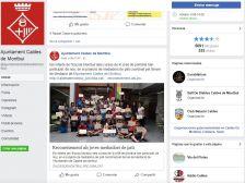 Pàgina de l'Ajuntament a facebook