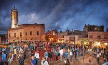 Inauguració de la plaça, ahir al vespre