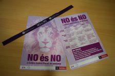 """Material de la Campanya """"No és No, a Caldes festes lliures de sexisme"""""""