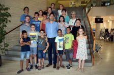 Rebuda infants sahrauís a l'Ajuntament