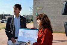 Jordi Solé i Núria Carné, durant la roda de premsa