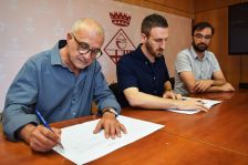 D'esquerra a dreta: Josep M. Mompart, Isidre Pineda i Jaume Mauri