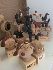 Imatge exposició dels treballs dels infants del Taller d'Art