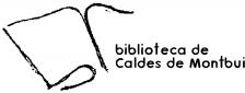 Logo Biblioteca de Caldes de Montbui