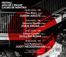 Cartell Festival Molí de l'Esclop 2018