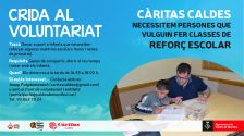 Crida al voluntariat- Reforç escolar